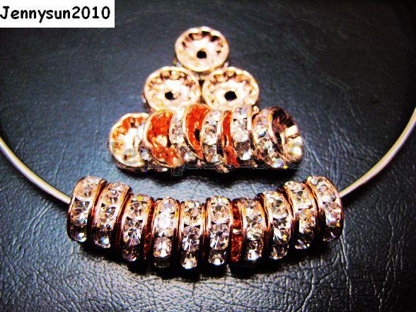 Crystal Rondelle Metal 6mm