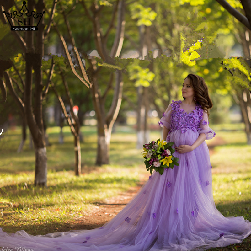Mother Daughter Wedding Dresses Mum Mom and Baby Matching Clothes Purple Pink Rainbow Sister Matching Clothes Family Look Dress - 4