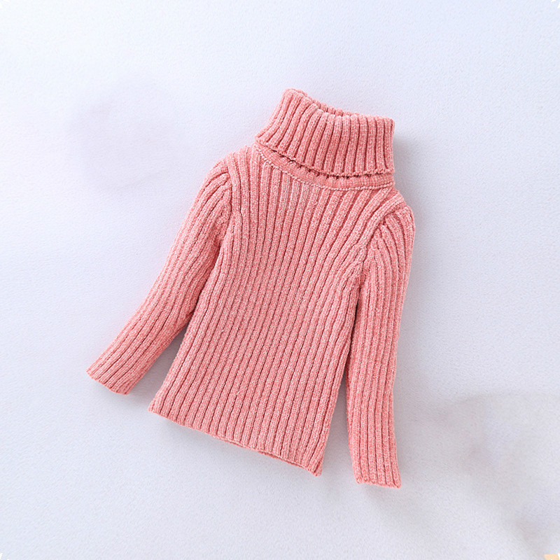 b19724e51 girls sweaters Baby girl winter clothes Chenille knit Turtleneck ...