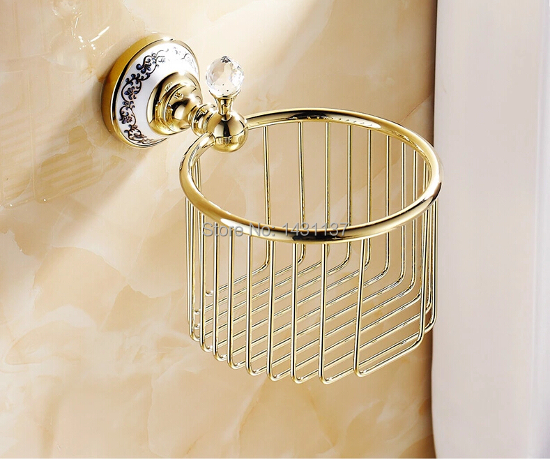 Total brass material high quality gold/bronze/chrome/ORB finished bathroom paper holder basket paper holder bathroom accessories factory direct sale high quality bronze finish bathroom paper box bathroom accessories bathroom storage holder