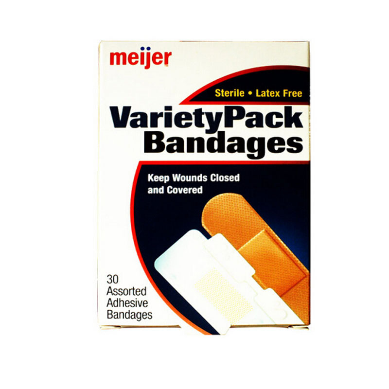 Free Shipping 90 Pcs/3Boxes Variety Pack Adhesive Bandages Assorted Sizes Flexible First aid Hemostasis Outdoor Band aid tongue studs set color assorted 30 pack