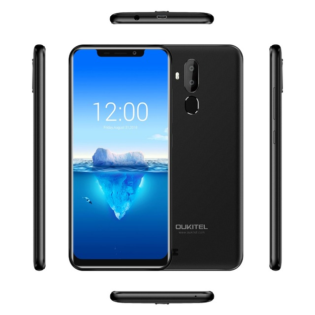 Oukitel C12 Pro Face ID 6.18Inch 19:9 U-notch Display Android 8.1 2GB RAM 16GB ROM MT6739 3300mAh Battery 8MP+5MP 4G Smartphone 3