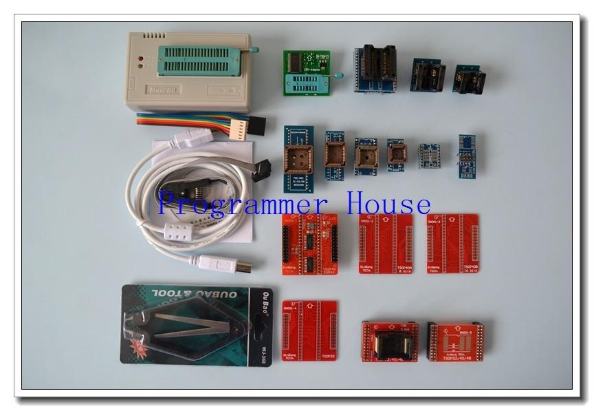 V7.05 Original XGECU TL866A TL866II Plus Universal minipro programmer AVR PIC Bios USB Programmer+15 adapters+V1.8+SOIC8clip
