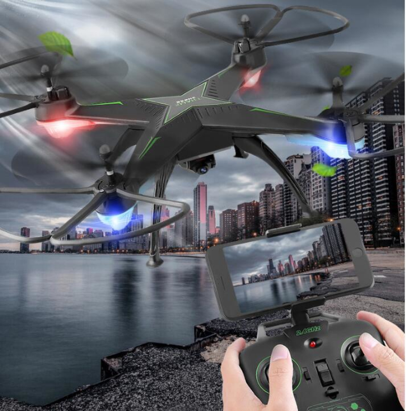 Aerial RC Drone 10HW Headless attitude hold LED light WIFI FPV real time RC Toy Quadcopter Drone with 720P HD camera vs X102H X8 newest apple shape foldable wifi fpv rc drone rc130 2 4g apple quadcopter with 6axis gryo with 720p wifi hd camera rc drones