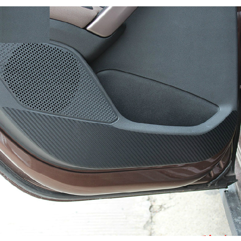 Car Door Protector Side Edge Protection Pad Carbon Fiber Anti-kick Mat Door Interior Sticker for Peugeot 2008 Car Styling new arrival car auto care seat back protector case cover for children baby kick mat mud clean plastic transparent anti kick pad