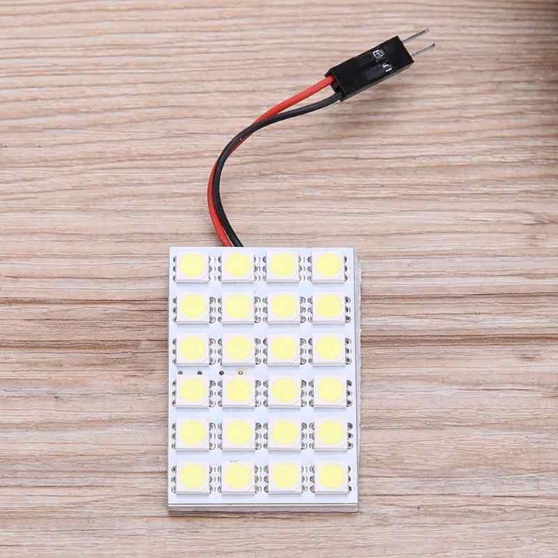 T10 5050 24SMD LED Panel Mobil Interiorreading Lampu Lampu Putih Memperhiasi Dome Lampu Blub Lampu Bagasi Auto Aksesoris Pengganti