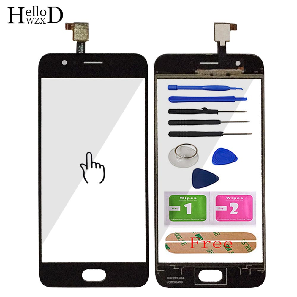 5.0'' Mobile Phone Touch Glass For UMIDIGI C2 Touch Screen Glass For Umi C2 Digitizer Panel Lens Sensor Free Adhesive
