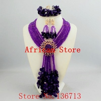 2016 Fashion african coral beads necklace set nigerian wedding african beads jewelry Set Free shipping HD349 3