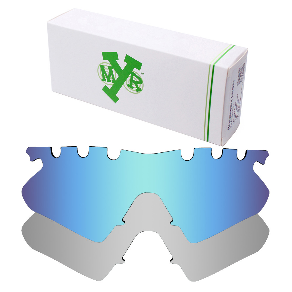 1383f06803 2 Pairs Mryok POLARIZED Replacement Lenses for Oakley M Frame Heater Vented  Sunglasses Ice Blue   Silver Titanium