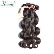 """ILARIA волосы норки 8а бразильские волнистые натуральные волосы 4 пучка 0""""-36"""" необработанные человеческие волосы переплетения пучки"""