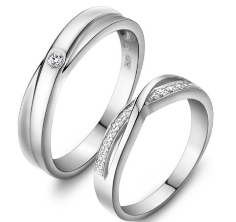 Bague en argent Sterling 925 bague de fiançailles bague d'amant bijoux en argent bague CZ en argent livraison gratuite