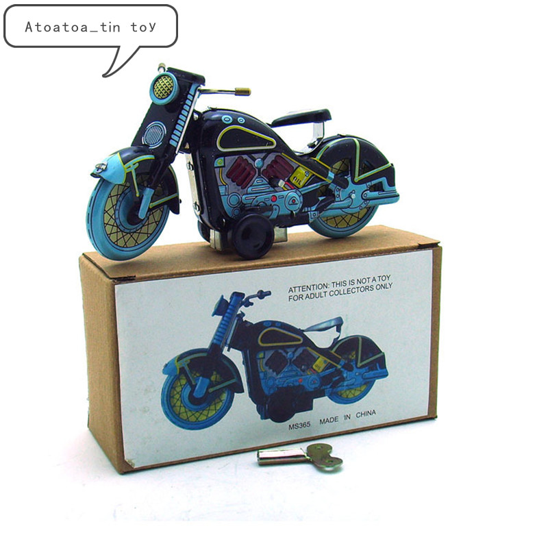 Vintage Motorbike Collection Tin Toys Classic Clockwork Wind Up Motorcycle Model Tin Toys For Adult Kids Collectible Gift