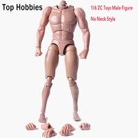 1/6 Scale Male Head Sculpts Without Neck Muscular Man Action Figure Body Model ZC Toys Fit 1/6 Scale Head SCULPT
