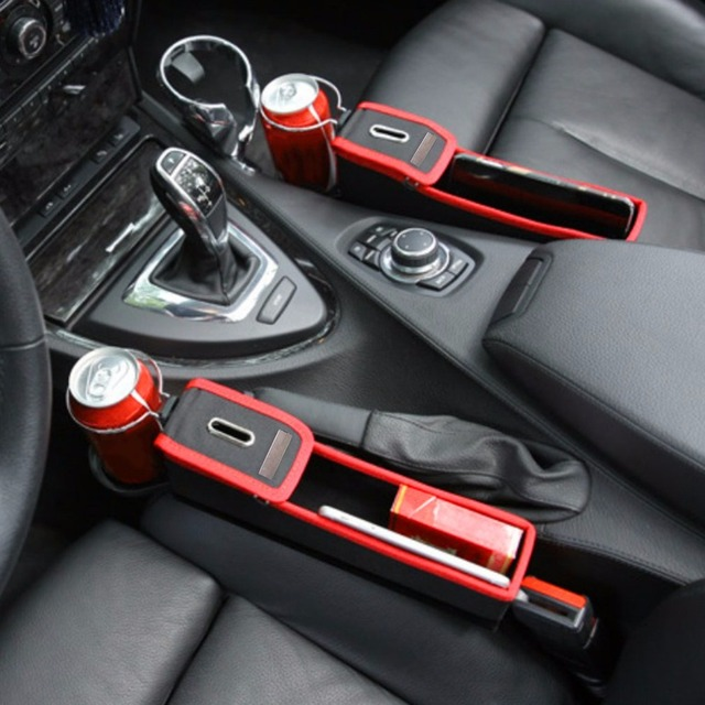 Car Seat Crevice Storage Box Cup Drink Holder Organizer Auto Gap Pocket Tidying For Phone Card