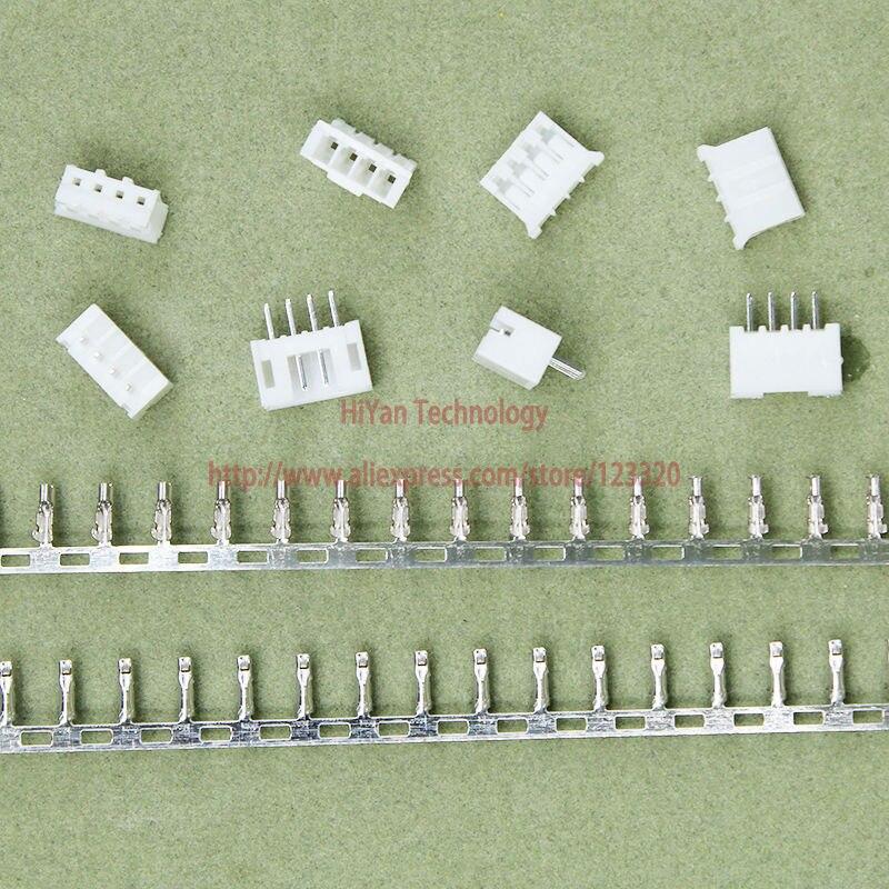 (100sets/lot) PH2.0 4P 4Pin 180degrees PH Connector Pitch:2.0MM 4A 180 degree Pin Header + Terminal + Housing PH2.0-4P