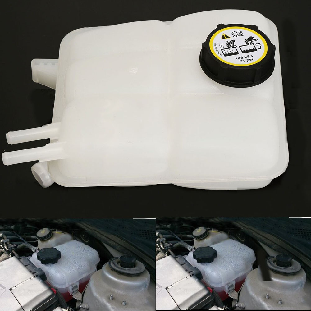 Car Portable Coolant Tank Recovery Reservoir Radiator with Cap for 2004-2012 Mazda 3