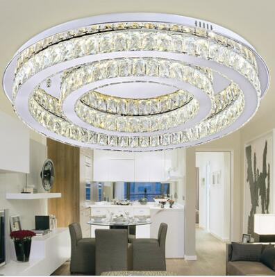 ED 50W European Creative Atmosphere Circle K9 Crystal Shape Of The Sitting Room The Bedroom Absorb Dome Light 110-240V  @-9