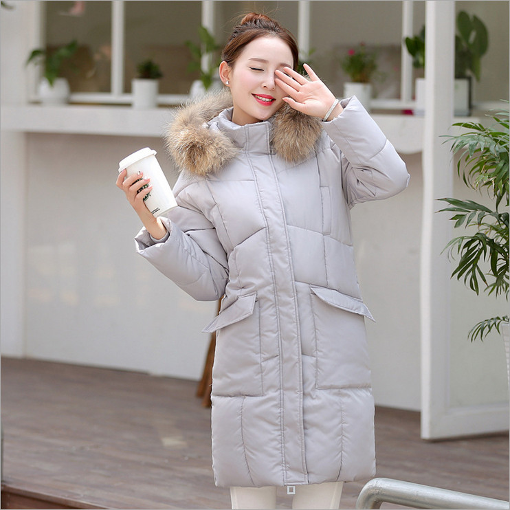 2017 autumn and winter new Korean Nagymaros collar coat Girls long paragraph big yards fashion hooded
