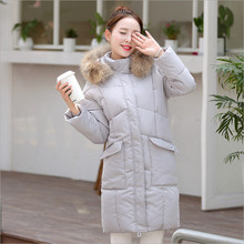 2018 autumn and winter new Korean Nagymaros collar coat Girls long paragraph big yards fashion hooded