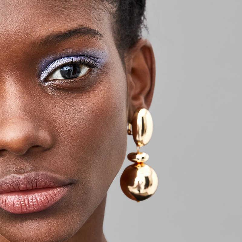 AENSOA ZA ใหม่แฟชั่นเรขาคณิต Dangle Dangle ยาวหยดต่างหู 2019 โบฮีเมีย Handmade ใหญ่ต่างหูสำหรับผู้หญิงเครื่องประดับของขวัญขายส่ง