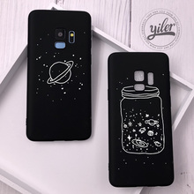 hot deal buy space plan for samsung galaxy s9 case for s9 samsung case wishing bottle for funda samsung s9 s7 edge s8 plus s8 s7 cpque cover
