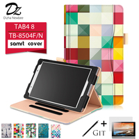 Dizha Case For Lenovo TAB4 8 TB 8504F TB 8504N Print PU Leather Kickstand Tablet Case