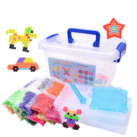 24 Colors 4800pcs Aquabeads Set Water Spray Magic Beads Kit Ball Puzzle Game Fun DIY Handmaking 3D Puzzle Educational Toys