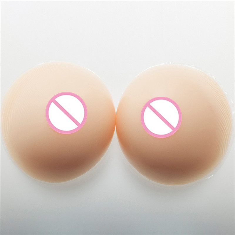 2000g/pair Silicone Crossdresser Breast Artificial Cosplay Breast Form Transgender Drag Queen False Boobs FF Cup