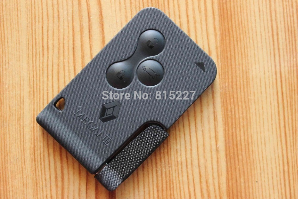 buy car key cover renault megane 3 buttons smart key shell remote case. Black Bedroom Furniture Sets. Home Design Ideas