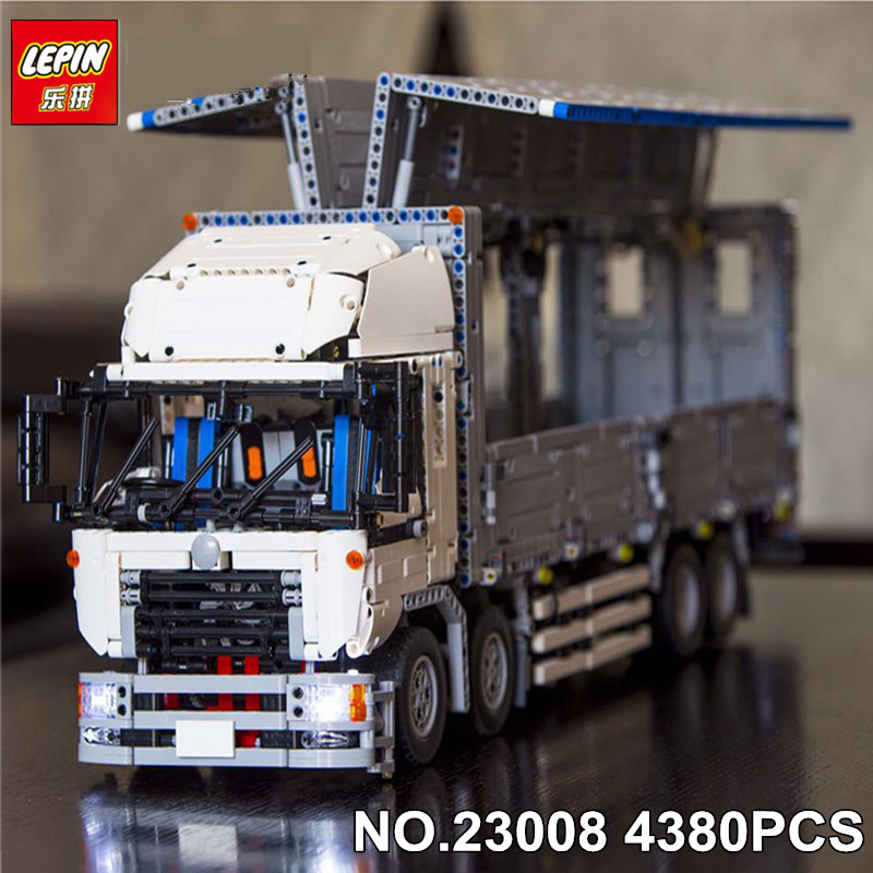 NEW LEPIN 23008 4380pcs technic series MOC truck Model Building blocks Bricks kits Compatible boy brithday gifts 1389 new lp2k series contactor lp2k06015 lp2k06015md lp2 k06015md 220v dc