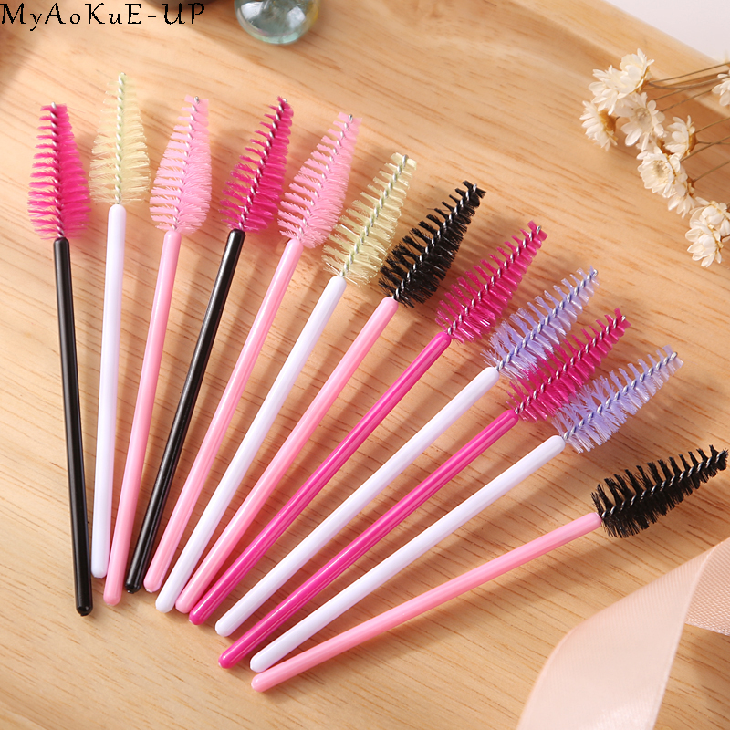 1000 pcs/lot Wholesale 19 colors Mix Disposable Water Drop Shape Eyelashes Brush Eyelash Extension Mascara Wand Applicator