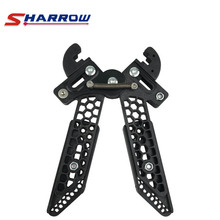 Sharrow 1 Piece Compound Bow Stand Adjustable Black Support Bows Shooting Hunting Accessory