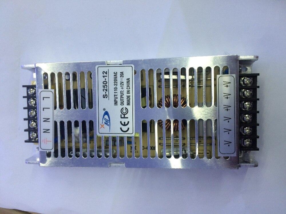 LED Transformateur 20A 250 W de Commutation Alimentation LED Pilote pour led bande led lumière AC 110-220 V Entrée à DC12V Aluminium cas