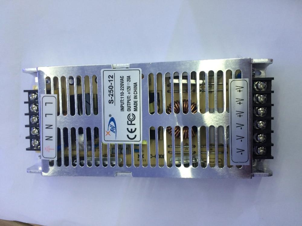Transformateur de LED 20A 250 W pilote de LED d'alimentation de commutation pour LED bande lumière LED AC 110-220 V entrée à DC12V boîtier en aluminium