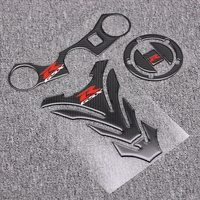 Motorcycle GSX R Tank Cap Pad Front End Upper Top Clamp Carbon Sticker Decal For Suzuki GSXR 600 750 2006 2007 2008 2009 K6 K8