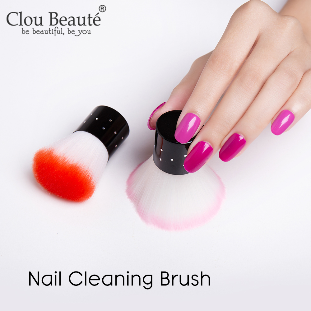 Nail Cleaning Nail Brush Tools File Nail Art Manicure Pedicure Soft Remove Dust Powder Removal Pink Clean Brush For Nail Care
