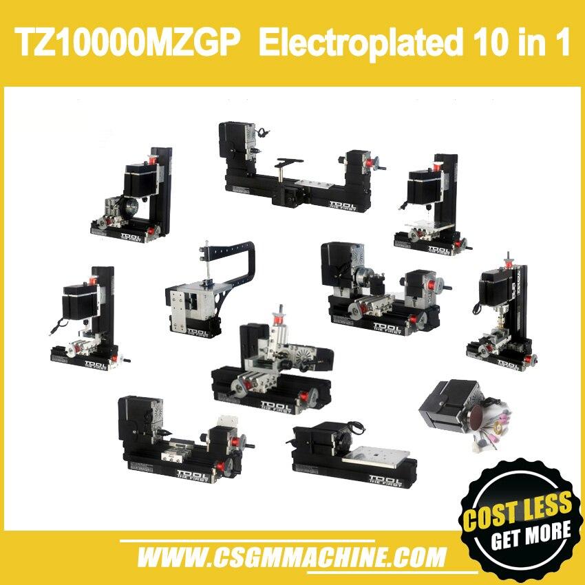 TZ10000MZGP 60W Electroplated Metal 10 in 1 Mini lathe 60W 12000rpm 10in1 Lathe Kit 10 in1