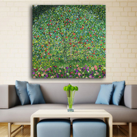 Cheap Print Wall Painting Golden Apple Tree Gustav Klimt Painting On Canvas Famous Wall Art For