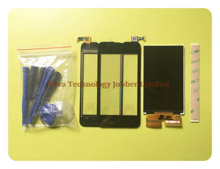 Wyieno Black Touchpad For BQ 4072 BQ-4072 BQS 4072 Touch Screen Digitizer Sensor Panel + LCD Screen Display Monitor Replacement