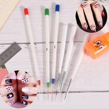 New 6pcs Nail Art Liner Painting Pen 3D Tips DIY UV Gel Brushes Drawing Kit Flow
