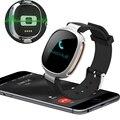 NOVA Banda Inteligente Pulseira E08 Inteligente Bluetooth 4.0 Heart Rate Monitor de Fitness Rastreador IP67 À Prova D' Água de Natação para IOS Android S012