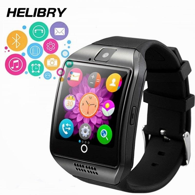 Astuto Della Vigilanza con la Macchina Fotografica Q18 PK DZ09 Bluetooth Smartwatch con Slot Per Sim Card Per Il Fitness Activity Tracker Sport Orologio per Android IOS