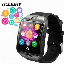 Купить с кэшбэком Smart Watch with Camera Q18 PK DZ09 Bluetooth Smartwatch with Sim Card Slot Fitness Activity Tracker Sport Watch for Android IOS