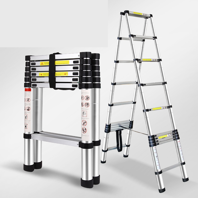 Double 3.2m Multi-function Aluminum Alloy Ladder Portable Telescopic Ladder Household Folding Aluminum Ladder