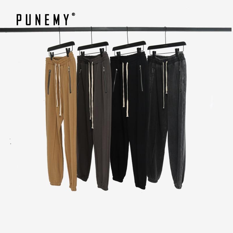 Men Sweatpants Joggers Trousers Zipper Pockets Hip Hop Streetwear Harajuku Elastic Ankle Kanye West Man's Sweatpants Trousers(China)