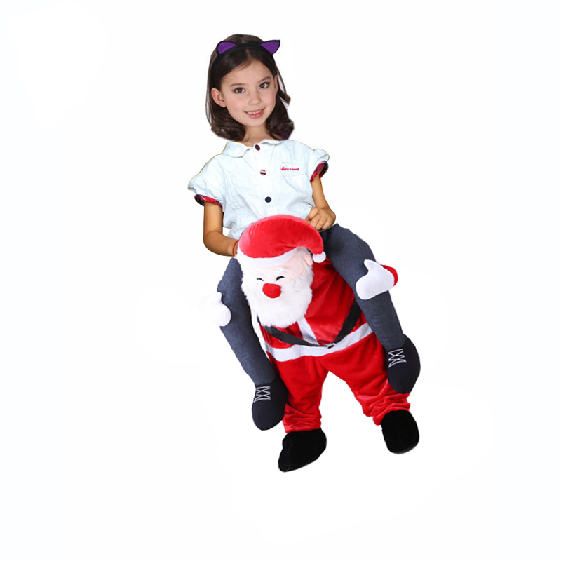 Adult-Kids-Novelty-Santa-Claus-Ride-on-Costume-Christmas-Riding-Shoulder-Funny-Suit-Santa-Mascot-Costume (1)
