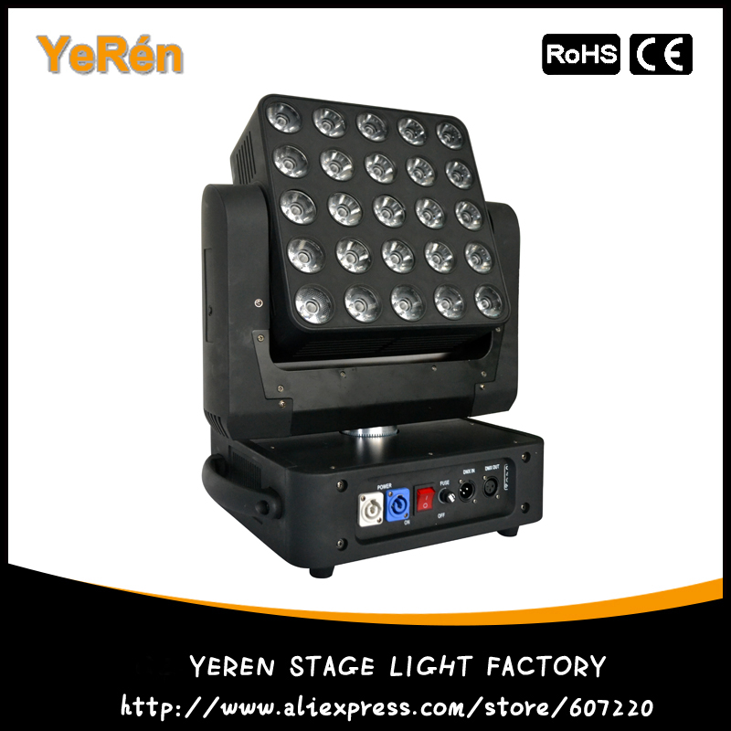 <font><b>5&#215;5</b></font> <font><b>Led</b></font> Matrix Moving Head Light RGBW 25*12W DMX Stage Beam Light