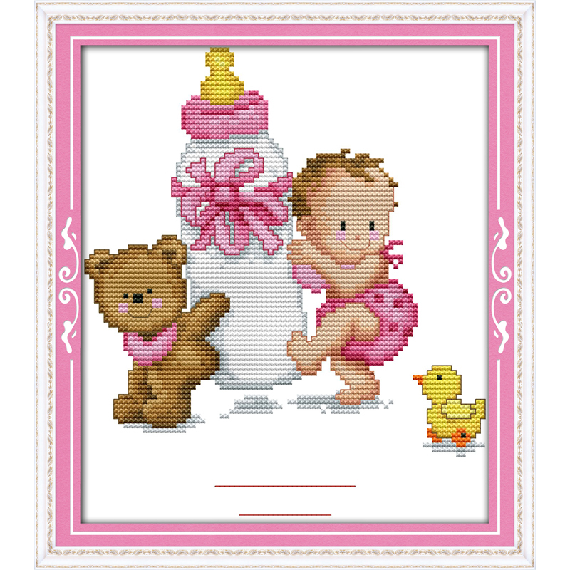 Everlasting love Christmas Bottle baby's birth Ecological cotton Chinese cross stitch kits counted 11 New store sales promotion