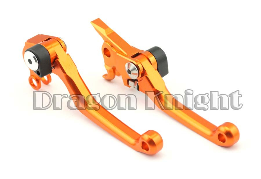 ФОТО Motorcycle Billet  A Pair Orange CNC  Aluminum Short Brake Clutch Lever Custom For KTM SX/SXC/EXC 125/144/200 2005-2008