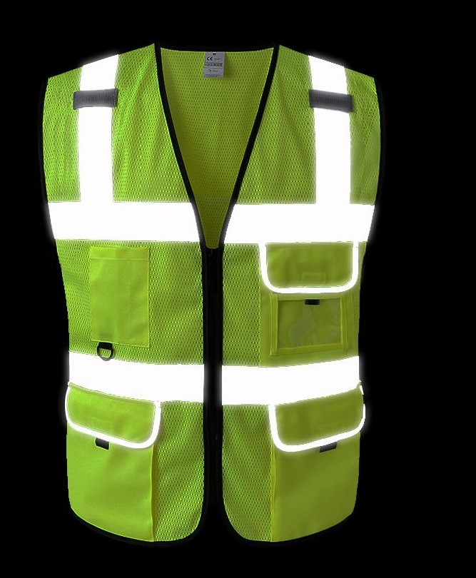 New Style Breathable Mesh High Visibility Reflective Traffic Safety Cycling Vest Printable Words Logo серьги page 4